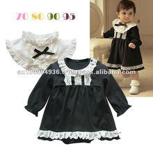 girl's 2pcs set, girl's lace dress set, MS-225, girl's black colour dress romper,