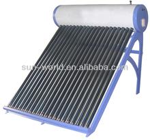 Non-pressurized Evacuated Tube Solar Water Heater
