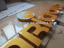 Precision acrylic 3D LED word signage