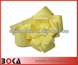 Fashion satin ribbon flower applique for women clothes
