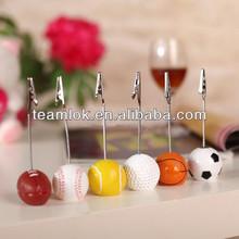 Ball Shape Plastic Base Memo Clip Holder