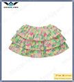 Baby girls 100 % de algodón orgánico bastante floral al por mayor falda de popelina