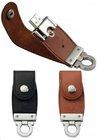 Cute Leather Key Chain USB Flash Drive