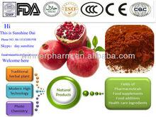 china supply pomegranate peel / flower / leaf / bark / seed extract powder