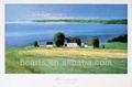ที่สวยงามบริสุทธิ์มือ- ที่มีคุณภาพสูงทาสีจิตรกรรมสีน้ำมันภาพทะเลมหาสมุทรเนินเขาที่บ้าน