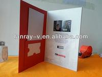 "Popular 4.3"" promtional video brochure for restaurant menu"
