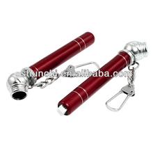 Car Tire Air Pressure Test Meter Gauge Pen Keyring Burgundy 10-50 PSI 2 Pcs