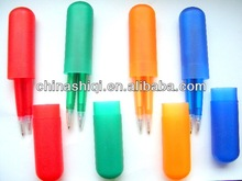 Novelty promotional cheap plastic twins ballpoint pen and Mechanical Pencil
