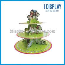 3 tier customized cardboard cupcake stand