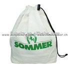 Custom drawstring recyclable cotton shoe bag