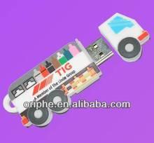 Cut Track PVC usb flash drive cartoon