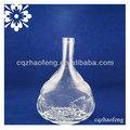 1000 ml tampa de rosca garrafa de vidro transparente forma redonda garrafas com tampas