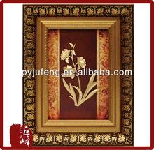 nice flower picture 24k gold leaf decoration frame best home deoration 2015