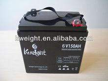 AGM VRLA battery 6V 150AH solar panel battery