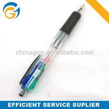 4 In 1, Rubber Grip, Plastic ,Click Ball Pen