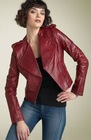 oks leather ladies coat