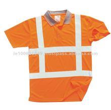 HiViz Extra Reflective Tape RWS Polo Shirt Safety Visbility Workwear