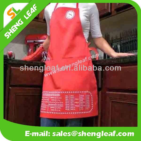 Respetuoso del medio ambiente del delantal de cuero para cocina