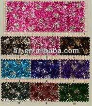 Chraming Printing Chunky Glitter Leather