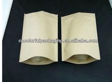 High quality paper packaging bag for flour packaging/stand up customized flour packaging bag with zipper