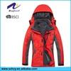 detachable inner fleece red hooded jackets men