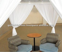 White aluminum Pipe And Drape for Business meeting and Trade Event