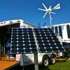 VMTF 3 or 6 blades high power mini generator vertical wind turbine solar Street Lights with support column