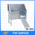 Bañera de acero inoxidable para perros sa-802