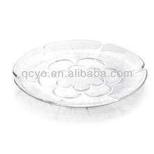 High quality acrylic imitation crystal dry fruit decoration tray