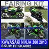 for KAWASAKI NINJA 300 2013 Bodywork Fairing Set green