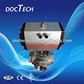 3-way válvula de bola actuador neumático