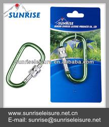 83018# Rope Hanging Aluminum Lock Green Locking Carabiner