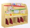 child wooden shelves,wooden bookrack,children library furniture