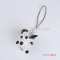 cristal beads animal keychain