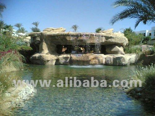 Cascadas artificiales del jard n de rocalla para el jard n for Cascadas de agua artificiales para jardin