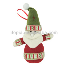 2014 New Christmas Plush Santa Ornament
