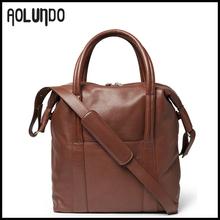 Wholesale leather tote bag fashion europe style men bag brown&black&gray