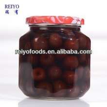 natural good price canned fresh cherry fruit in light syrup 425g in China tins or jars