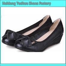 PU Design DR061 New Arrival 2013 Spring Latest Popular Wedge Black Very Comfortable Women's Court Shoes