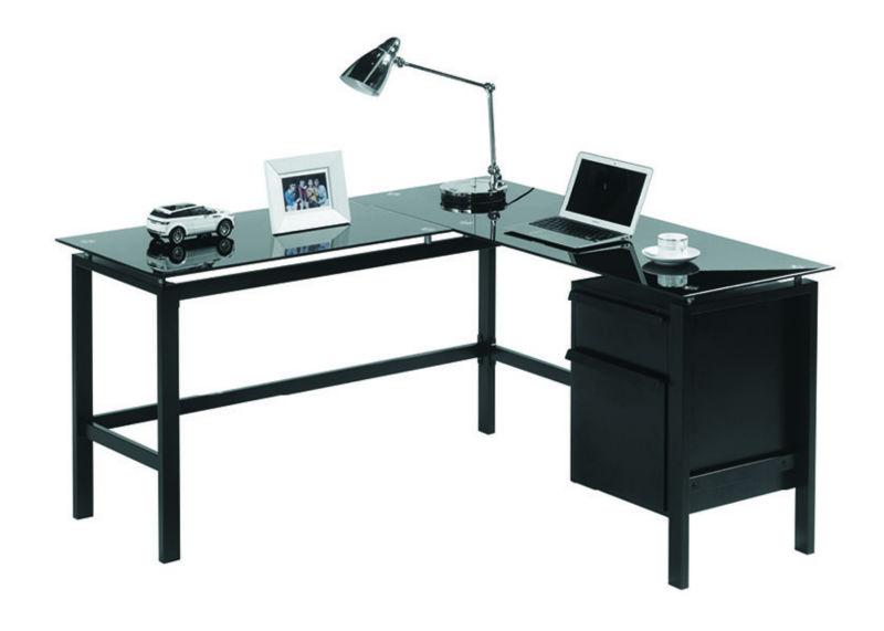 Office Desks,Glass Corner Computer Desk,L Shaped Desk Product on