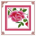 Nkf rose relógio( 1, tríptico) padrão de bordado