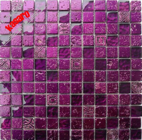 goldfolie glasmosaik lila mosaikfliesen lila backspalsh. Black Bedroom Furniture Sets. Home Design Ideas