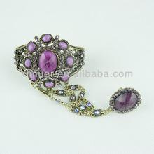 Latest design slave bracelets with ring,Ring bracelet combination