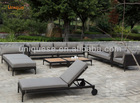Alum wicker luxury sofa set outdoor furniture