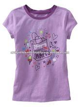Purple t shirt with custom print for girls