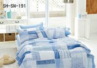 Blue Bedding Set Patchwork
