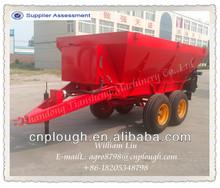 Agricultural tractor trailed organic fertilzer spreader manure fertilizer spreader cow dung spreading truck for sale