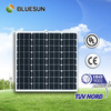 Bluesun top quality monocrystalline 12v 50w solar panel for EU and US