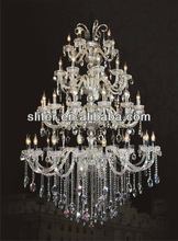 Big crystal caboche pendant light and lamp, modern design chandelier
