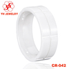 New Eternity white ceramic ring mens western wedding bands